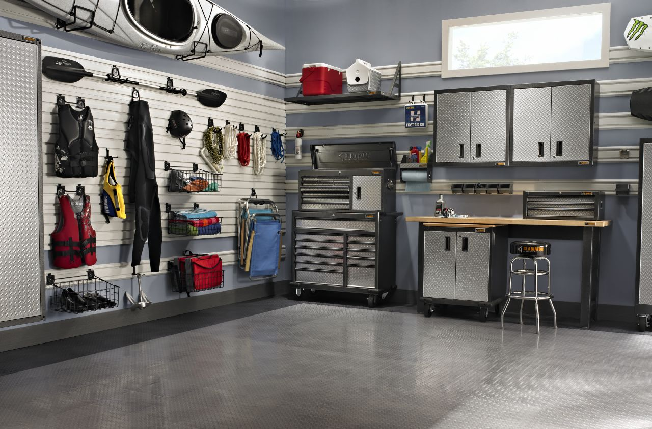 Eye catching garage laundry room organization made for Interieur garage
