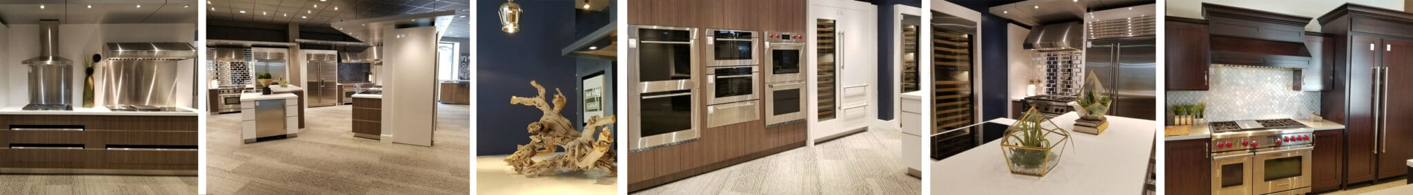 Sub-Zero, Wolf, and Cove Appliances in The Living Kitchen at Capital Distributing Dallas TX