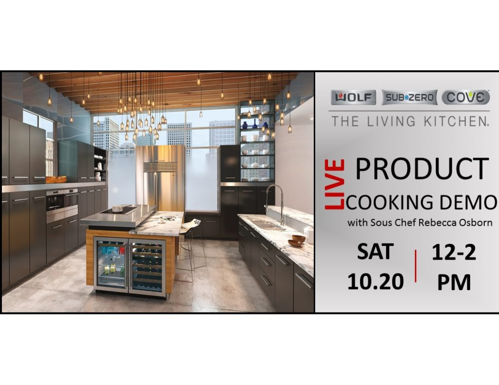 Subzero Wolf Live Cooking Demo At Capital Sat 10 20