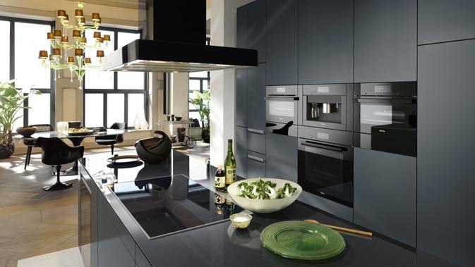 Miele Premium Kitchen Appliances displayed at Capital Distributing. Dallas TX