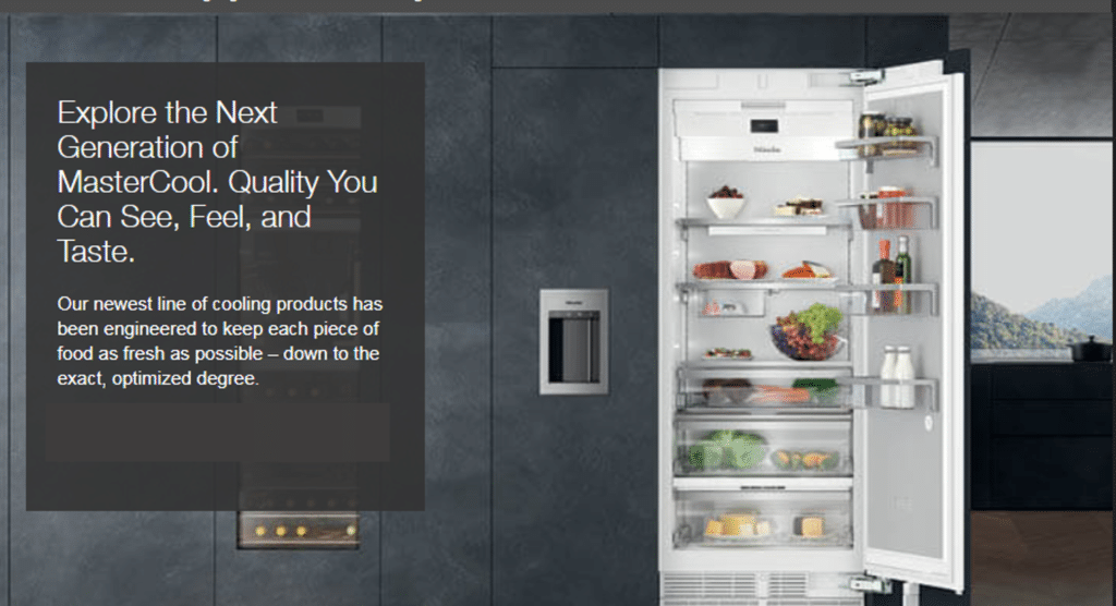 Miele Next Generation Refrigerators and Premium Kitchen Appliances at Capital Distributing Dallas TX
