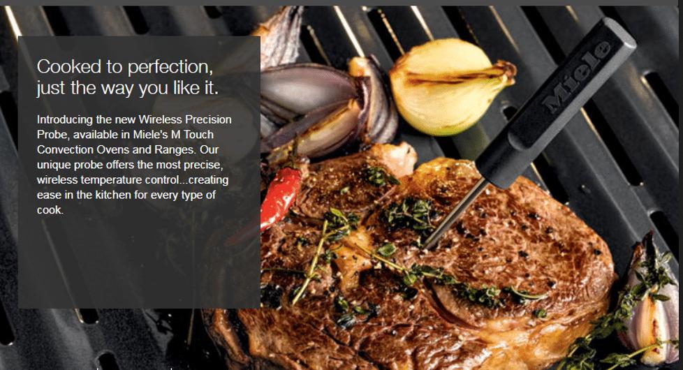 Miele Premium Kitchen Appliances, Introducing The Precision Probe, Get It At Capital Distributing Dallas TX
