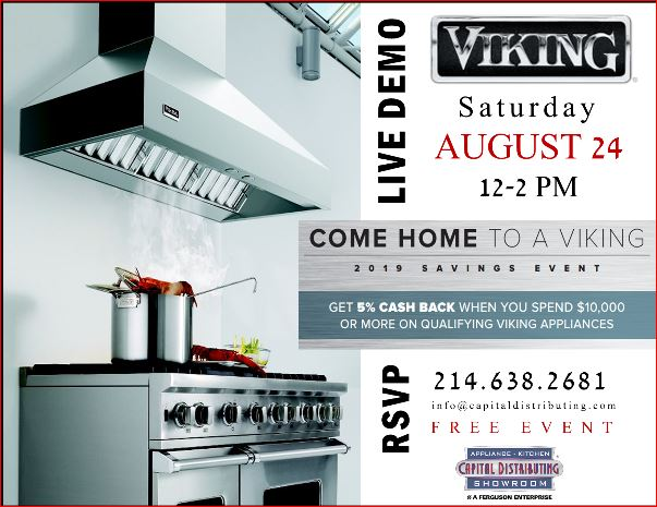 Join us this Sat. for our VIKING Cooking Demo!