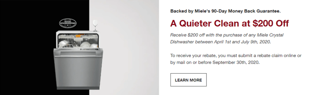 $200 off on any Miele Crystal Dishwasher | Visit Capital Distributing for more info