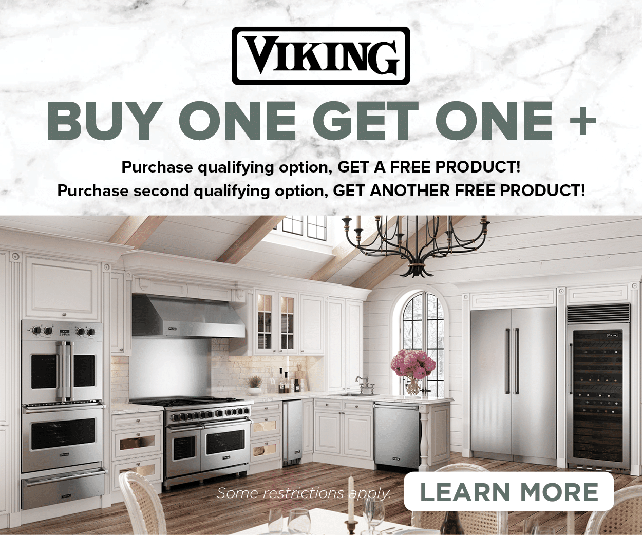 Viking Buy One Get One | Come Home To A Viking | Capital Distributing Showroom Dallas TX