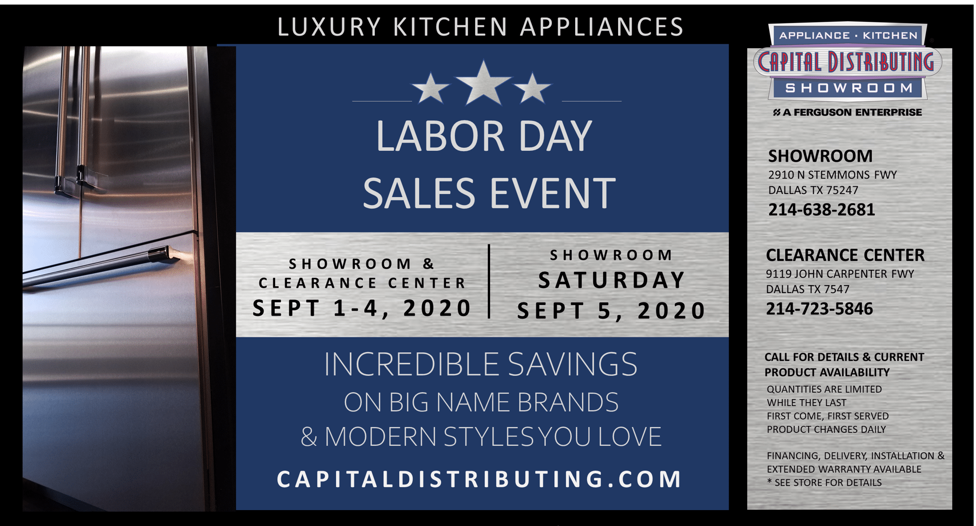 Labor Day Sales Event | Capital Distributing