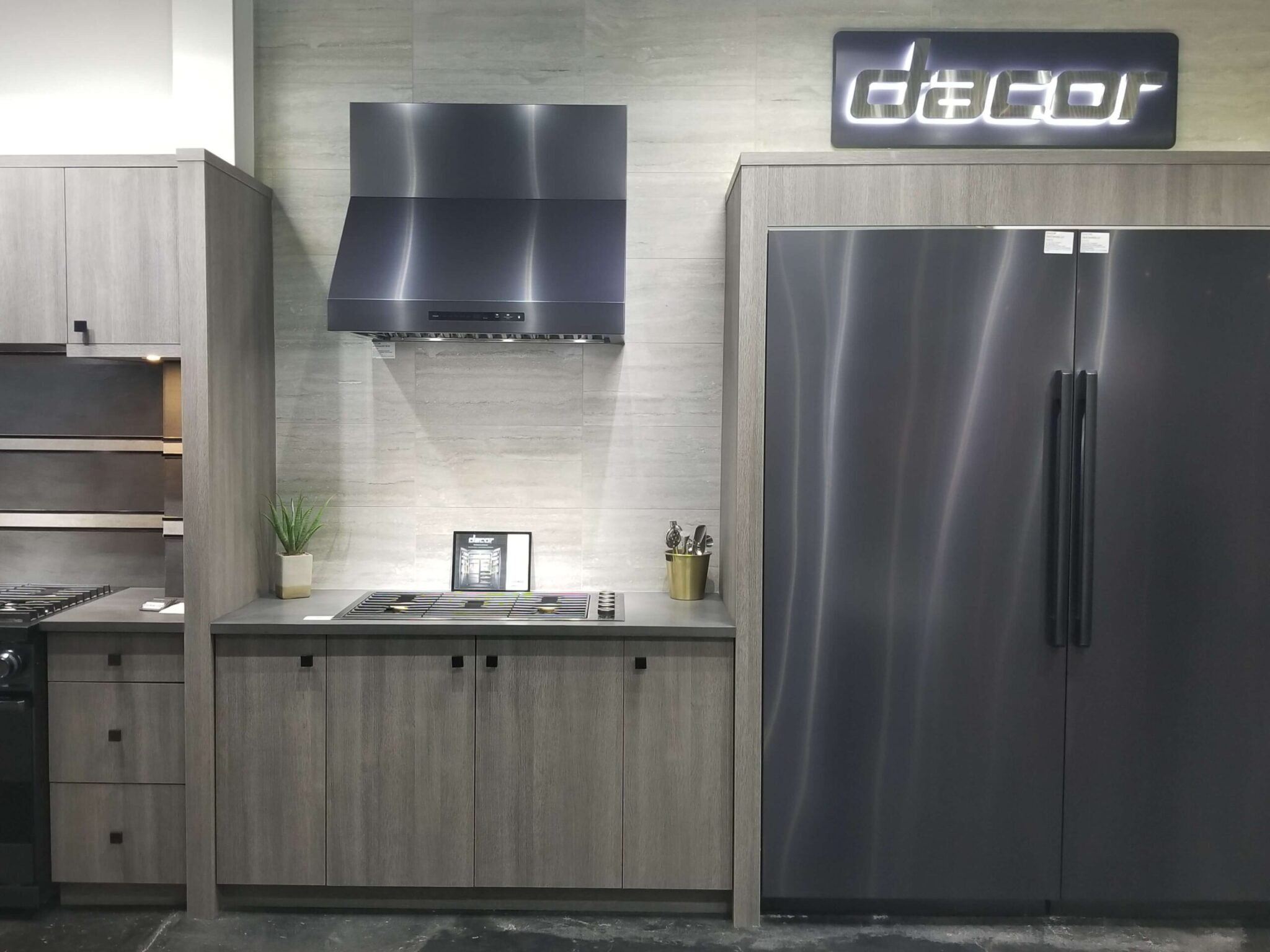 Dacor Refrigerator, Cooktop, and Vent Hood