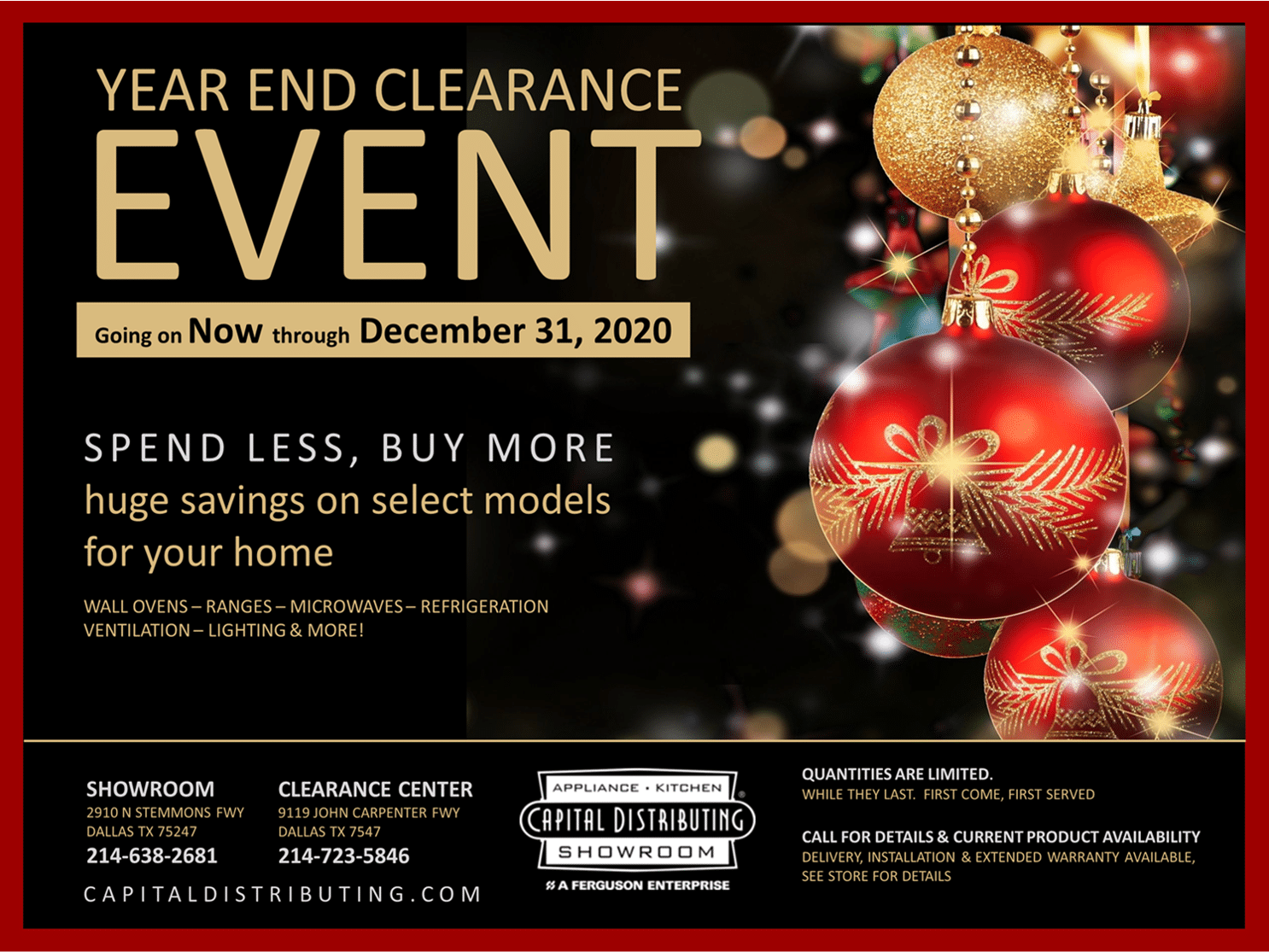 Capital Distributing | Year End Clearance Event 2020