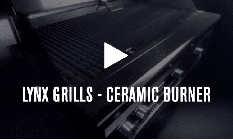 Ceramic Burner Available on Many Lynx Grills