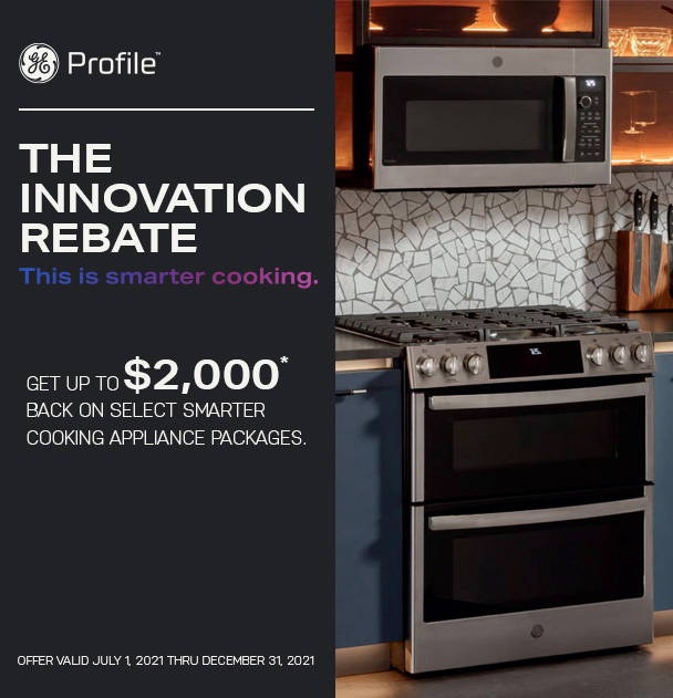 GE Profile rebate offer on appliance packages